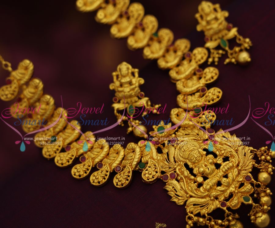 Nl7660 One Gram Gold Plated South Indian Traditional