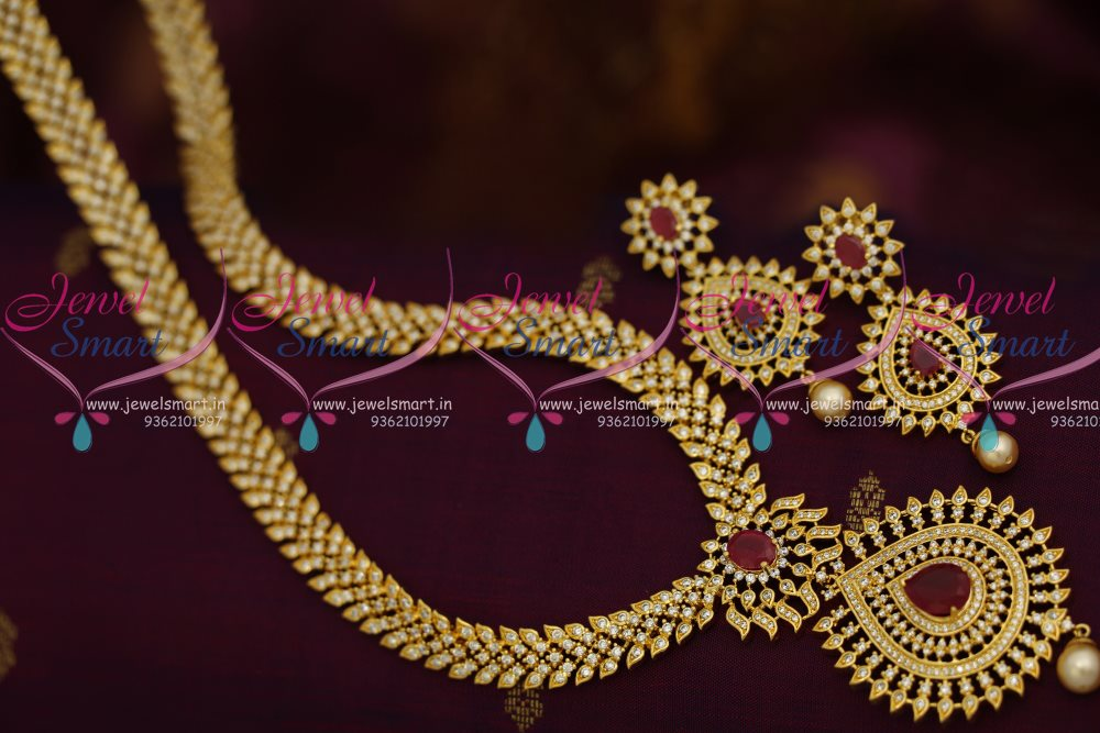 Nl8042 South Indian Fashion Latest Long Haram Necklace