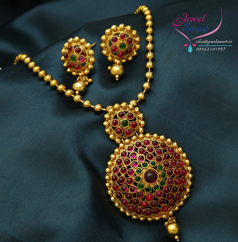 Ps0142 gold plated kemp stones pendant earrings beads chain red gold ps0142 gold plated kemp stones pendant earrings beads chain red gold plated mozeypictures Gallery