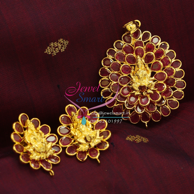 jpg pendant gold jewelry stones kemp traditional south red img plated search images temple indian necklace