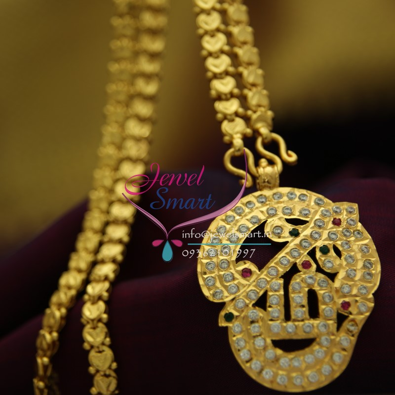 plated sets gold south traditional diamond cz american handwork jewellery chain indian img stones pendant