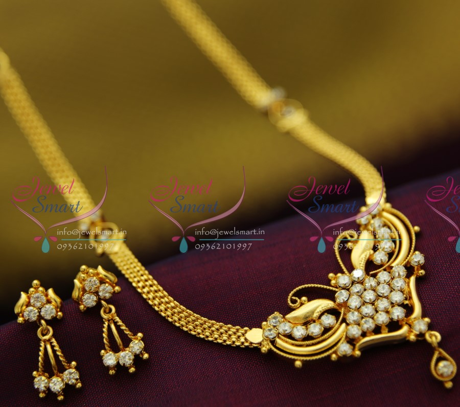 22ct Indian Gold Mangalsutra Necklace Set: NL2051 22Ct Gold Plated South Indian Traditional Jewellery