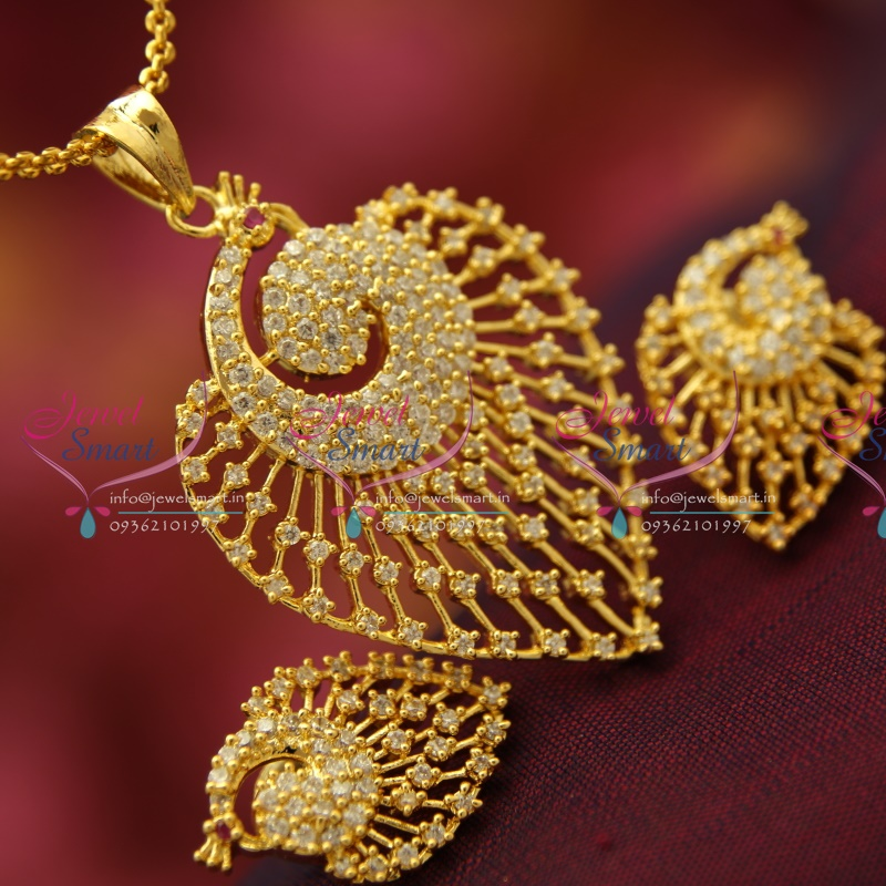 Ps4132 ad stones peacock design fancy jewellery pendant set gold ps4132 ad stones peacock design fancy jewellery pendant set gold finish buy online aloadofball Choice Image
