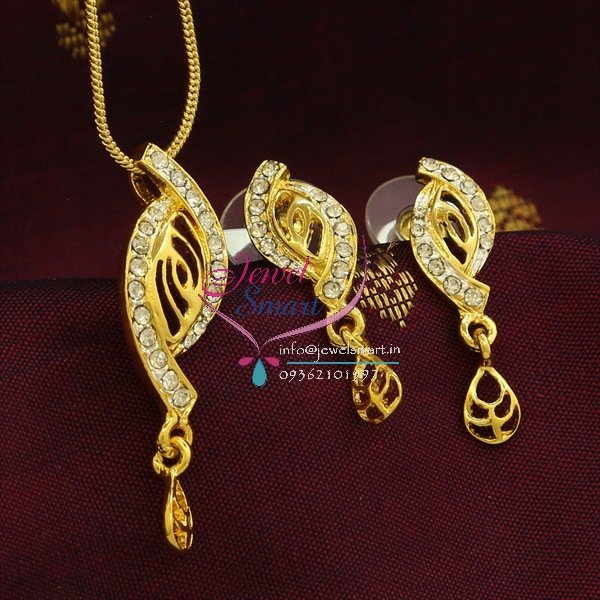 Pe8274 delicate two tone gold design pendant earrings fancy chain set aloadofball Image collections