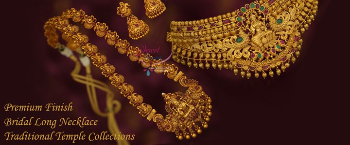 South Indian Traditional Temple Jewellery Designs Antique Gold Plated