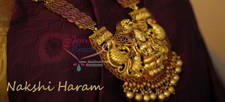 Ruby Temple Nakshi Haram Latest South Indian Traditional Jewellery Online