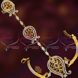 gold-silver-two-tone-hathful-design-cz-finger-ring-linked-fashion-jewellery-buy-online