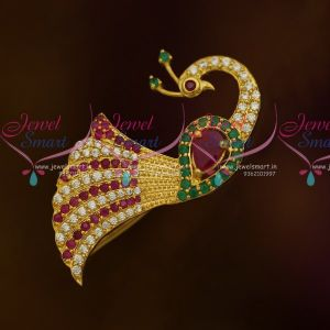 Fancy American Diamond Matching Jewellery Saree Pins Red Green White Stones Accessory Online