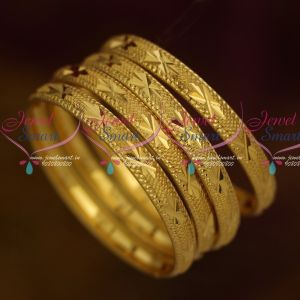 Plain Gold Covering Bangles Daily Wear Jewelry Kids to Adults Size Collection Online