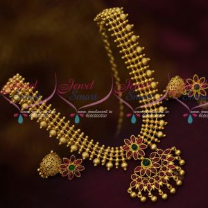 Marquise Kemp Stones Flexible Jewelry Set Jhumka Earrings Traditional Design Shop Online