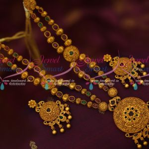 Double Strand Antique Jewelry Latest Matte Reddish Fashion Collections Online