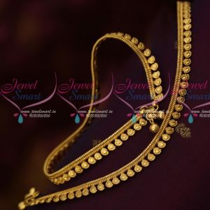 Mango Design Plain Gold Plated Traditional Anklets South Indian Jewellery Online