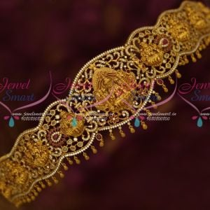 Temple Jewellery South Indian Traditional Gold Inspired Oddiyanam Matte Look Bridal Collections