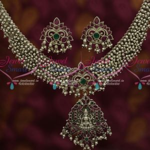 Silver Bead Danglers Temple Pendant Latest Oxidised Traditional Jewelry Designs Online