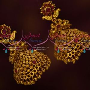 Antique Low Price Jhumka Earrings Screwlock Flora Design Jewellery