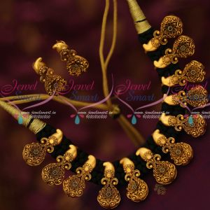 Black Thread Dhaga Necklace Antique Mango Pendants Trendy Fancy Jewellery Collections Online
