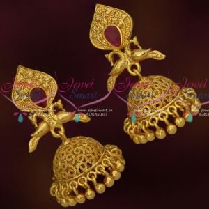 South Indian Daily Wear Jhumka Earrings Latest Imitation Gold Covering Jewelry Online