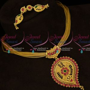 Mango Design Pendant Fancy Rope Chain Gold Covering Jewellery Shop Online