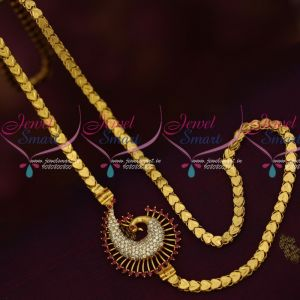 Gold Design AD Mugappu Kerala Style Chains Latest Covering Jewellery South Indian Online
