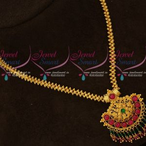 Kemp Chain Pendant Double Layer Crystal Drops Imitation Jewellery Designs Online