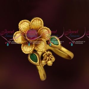 Vanki Ungaram Modiram Floral Design Traditional Gold Model Jewellery Online