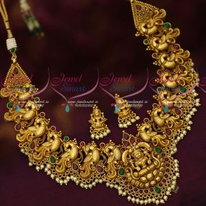 Bridal Jewellery Antique Gold Plated Kemp Stones Traditional Design Necklace Online