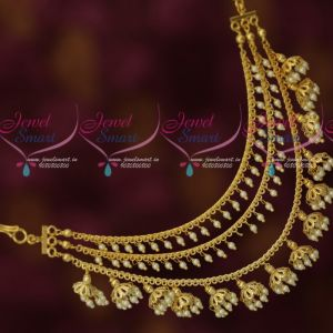 Multi Layer Pearl Jhumka Mattal Bahubaali Style Fashion Jewellery Latest Fashion Online