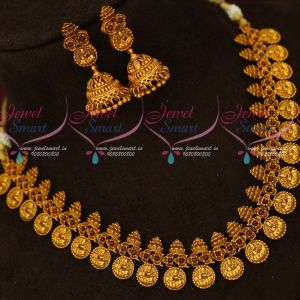 Traditional Temple Jewellery South Indian Kemp Stones Kasumala Nagas Finish