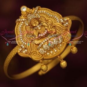 Temple Imitation Jewellery String Vanki Antique Gold Reddish Matte Gold Plated