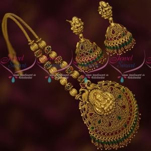 Gold Inspired Intricately Designed Temple Antique Jewellery Collections Latest