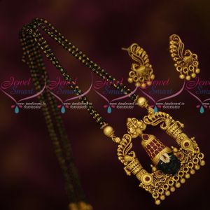 Temple Jewellery Lord Balaji Venkatachalapathy Design Short Mangalsutra Online