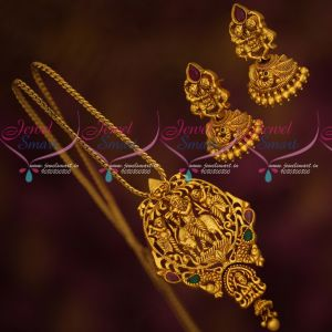 Lord Krishna Design Traditional Pendant Nakshi Intricately Designed Jewellery Set Online