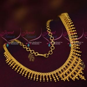 South Indian Gold Covering Jewellery Daily Wear Necklace Imitation Designs Online