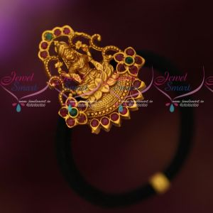 Antique Temple Jewellery Rubber Band Hair Accessory Latest Bridal Collections