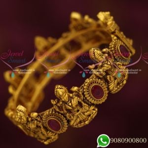 Gold Finish Antique Nakshi Temple Bangles Antique Plated Jewellery Online