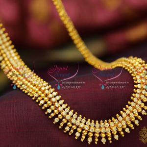 beads-design-gold-plated-ad-white-south-indian-haram-quality-fashion-jewellery-low-price-buy-online