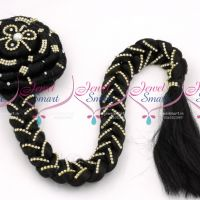 stone-decorated-kondai-twisted-jada-bridal-attachment-hair-extension-buy-online