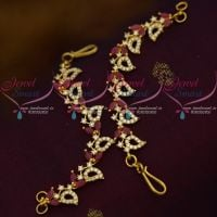 AD Ruby White Ear Chains Womens Jewellery Accessory Fancy Leaf Design Fashion Collections