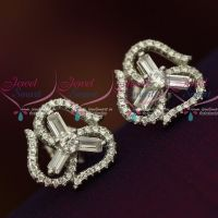 Silver 92.5 Jewellery CZ High Quality Spakling stones Trendy Ear Studs Shop Online