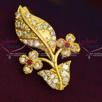 New Imitation AD Stones Flowerpot Fashion Jewellery Saree Pins Collection Online