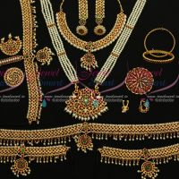 South Indian Classical Bharathanatiyam Dance Kemp Jewellery Set Shop Online