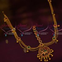 Simple Chain Drops Design Kemp Damini Mathapatti Latest Traditional Jewellery Designs Online