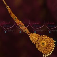 Temple Jewellery Bridal Designs Antique Matte Maang Tikka Low Price Shop Online