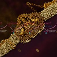 Antique Temple Pearl Jewellery Hip Chain Flexible Vaddanam Latest Traditional Collections Shop Online