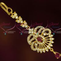 AD Ruby Jewelry Small Short Maang Tikka Nethichutti Party Wear Designs Online
