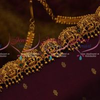Antique Traditional Jewelry Gold Plated Temple Vaddanam Beads Design Latest