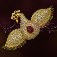 Flying Peacock Jewellery AD Stones Small Size Hair Clip Latest Imitation Buy Online
