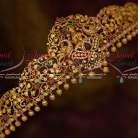 Temple Vaddanam Matte Finish Gold Plated Traditional Jewellery Semi Precious Stones Shop Online