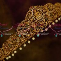 Matte Gold Plated Temple Vaddanam Latest Traditional Bridal Jewelry Designs Shop Online