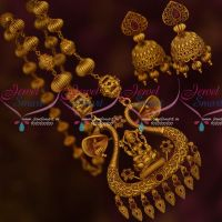 Ruby Stones Kharbuja Short Necklace Traditional Temple Jewelry Gold Look Online
